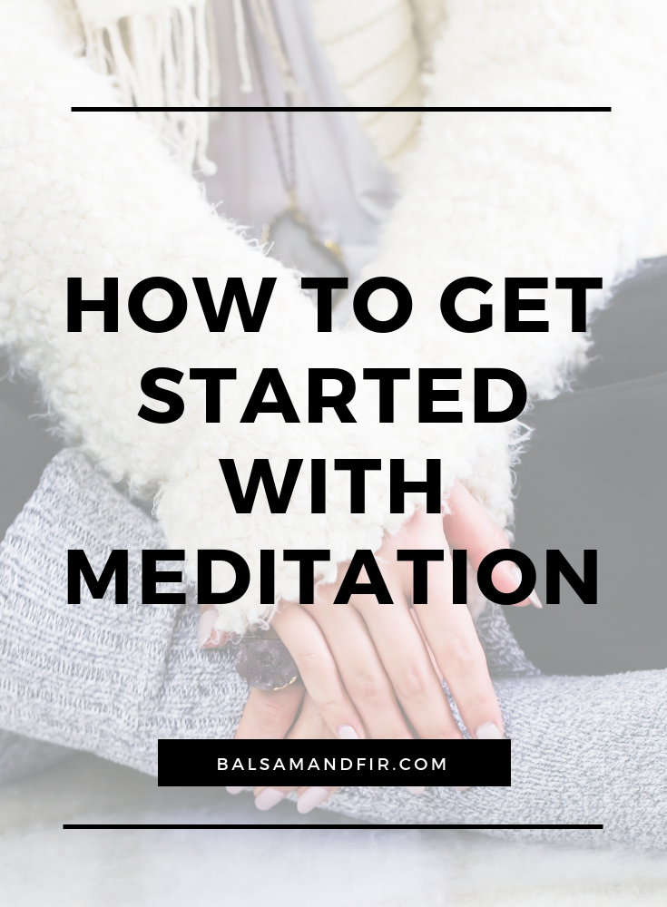 Perhaps you've heard that meditation will help your anxiety or help you sleep better or just calm the heck down. While that's all true, it can feel a little intimidating when you first start, especially if you're not in the habit of turning your brain off for any length of time. Click through to learn about getting started with meditation, even if you've never done it before. #meditation #anxiety #sleep